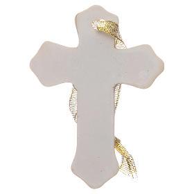 Regalo Primera Comunión cruz resina blanco niña s2