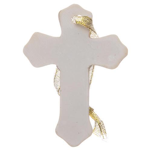 Regalo Primera Comunión cruz resina blanco niña 2