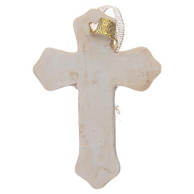 First communion bombonniere white cross in resin for boy s2