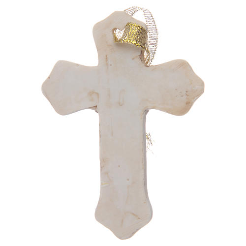 First communion bombonniere white cross in resin for boy 2