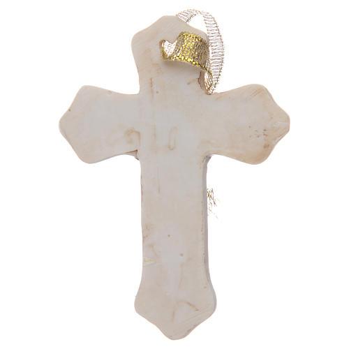 Bonbonnière Communion croix résine blanche garçon 2