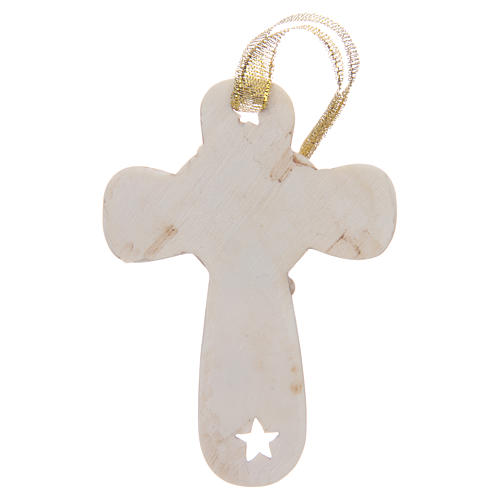 First communion bombonniere cross in resin with chalice and stars 2