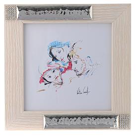 Idée cadeau cadre Joie Familiale de Verther 16x16 cm argent s1