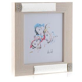Idée cadeau cadre Joie Familiale de Verther 16x16 cm argent s2
