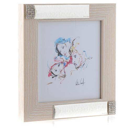 Idée cadeau cadre Joie Familiale de Verther 16x16 cm argent 2