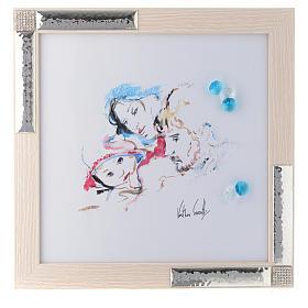 Idea Regalo acquarello Gioia Famigliare 27x27 cm Argento s1
