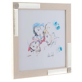 Idea Regalo acquarello Gioia Famigliare 27x27 cm Argento s2