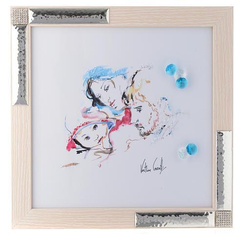 Idea Regalo acquarello Gioia Famigliare 27x27 cm Argento 1