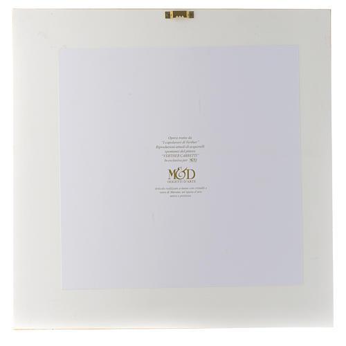 Idée cadeau cadre Mère Protectrice 36x36 cm argent cristaux 3