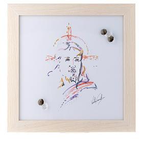 Cadre Christ Espoir impression aquarelle 27x27 cm s1
