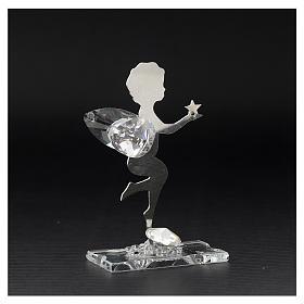 Bomboniera Angelo stella inox cristallo h. 7 cm s3