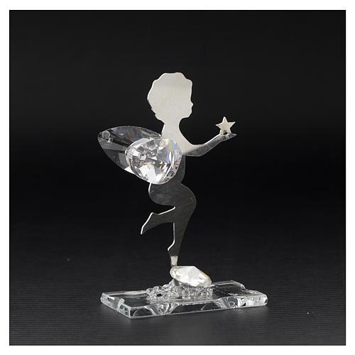 Bomboniera Angelo stella inox cristallo h. 7 cm 3