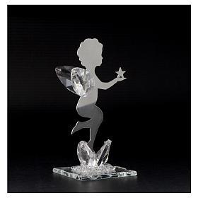 Bomboniera Angelo stella inox cristallo h. 11 cm s3