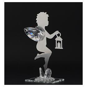 Gastgeschenk Engelchen mit Laterne aus Edelstahl, 16 cm s3