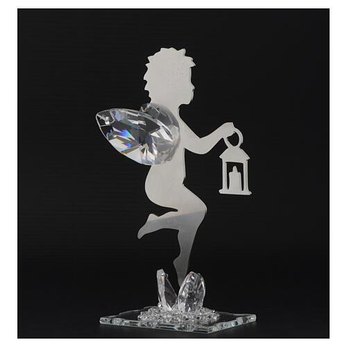 Gastgeschenk Engelchen mit Laterne aus Edelstahl, 16 cm 3