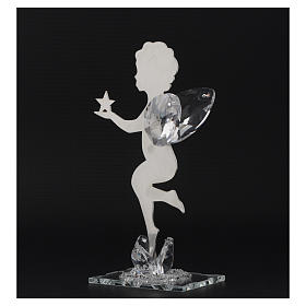 Bomboniera  Angelo stella inox cristallo h. 16 cm s3