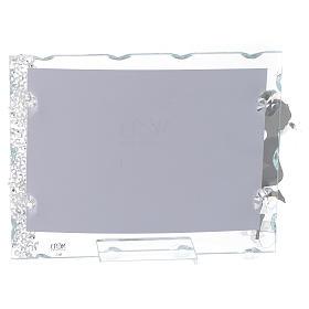 Bomboniera Portafoto Angelo inox cuore 9x12 con cristalli s2