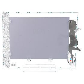 Porte-photo Ange inox lanterne 15x20 cm cristaux s2