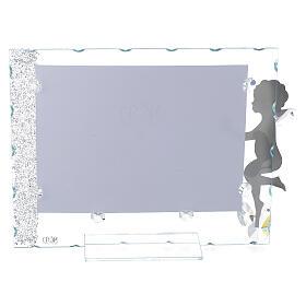 Fotorahmen Engel mit Stern aus Kristall und Edelstahl, 15x20 cm s2
