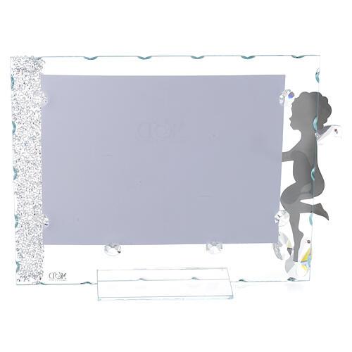 Fotorahmen Engel mit Stern aus Kristall und Edelstahl, 15x20 cm 2
