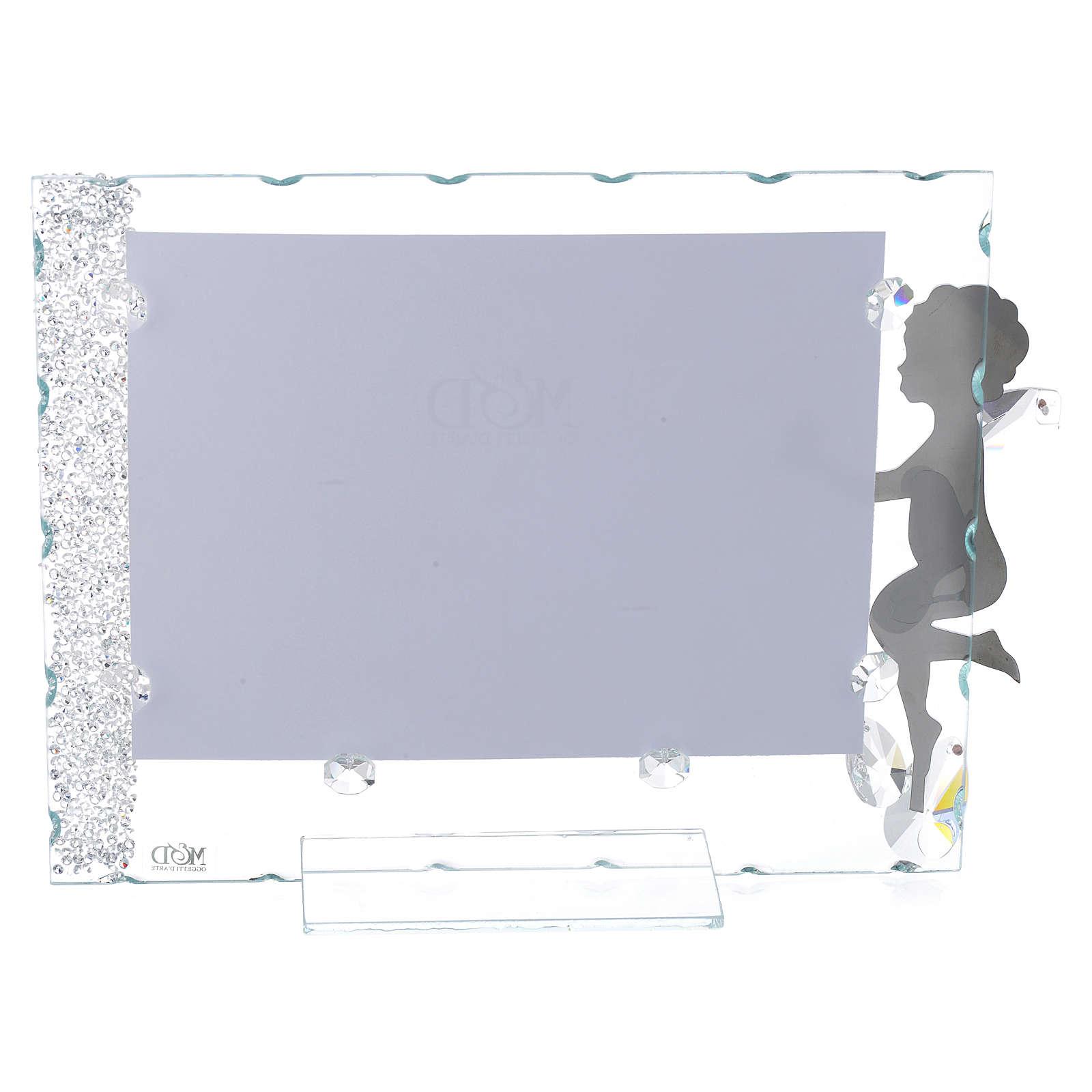 Porte-photo Ange étoile 15x20 cm cristaux 3