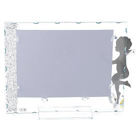 Porte-photo Ange étoile 15x20 cm cristaux s2