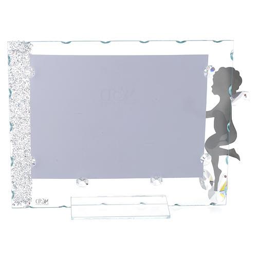Porte-photo Ange étoile 15x20 cm cristaux 2