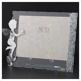 Angel photo frame with star and crystals 15x20 cm s3