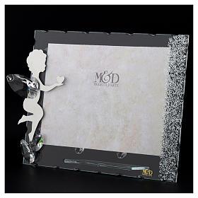 Porte-photo Ange coeur 15x20 cm cristaux s3