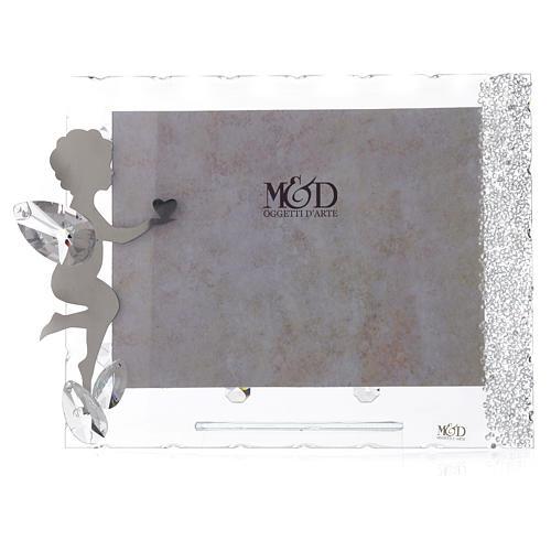 Porte-photo Ange coeur 15x20 cm cristaux 1