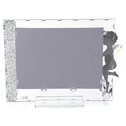 Porte-photo Ange coeur 15x20 cm cristaux 2