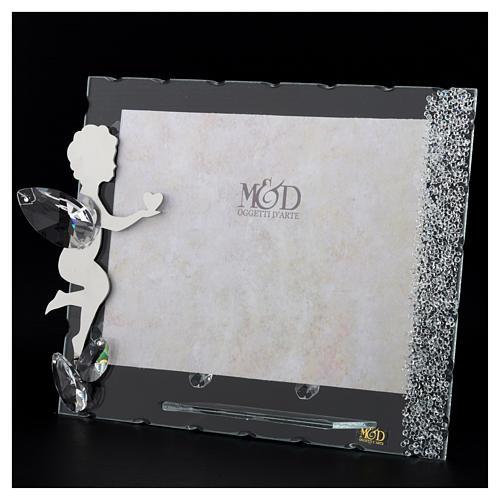 Porte-photo Ange coeur 15x20 cm cristaux 3