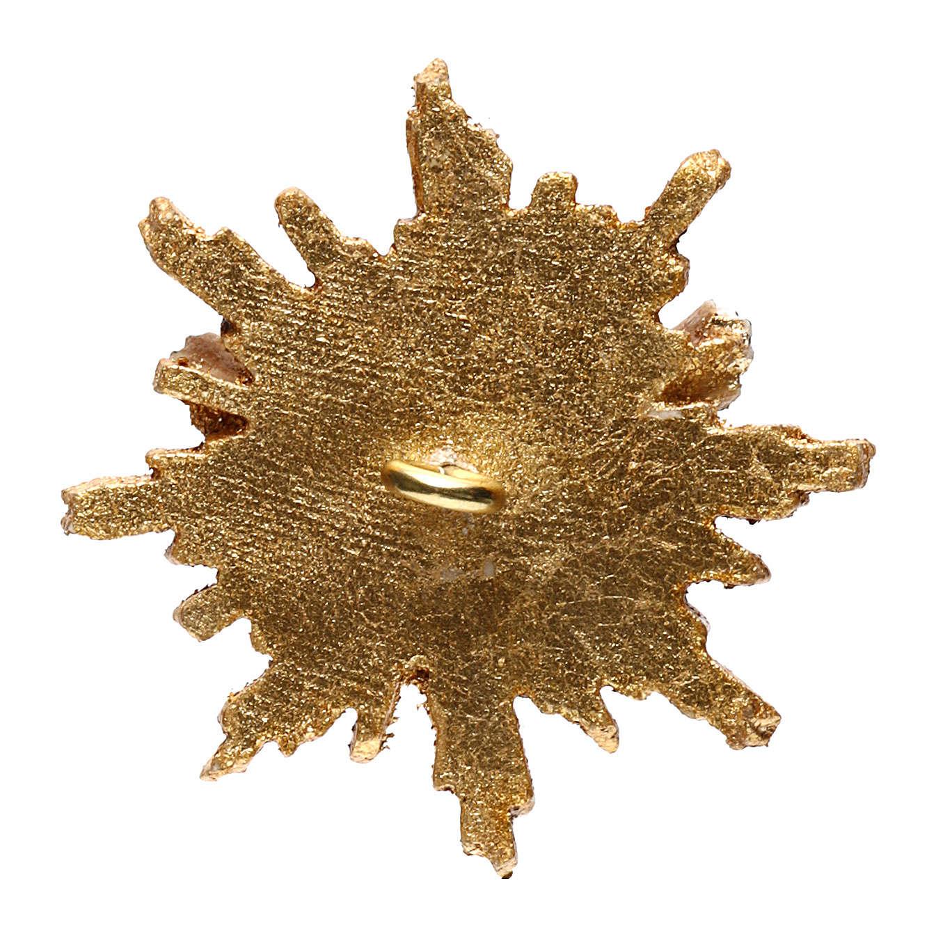 Espíritu Santo con corona de rayos 5,5 cm diámetro madera Val Gardena 3