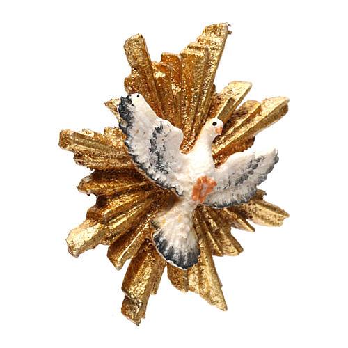 Espíritu Santo con corona de rayos 5,5 cm diámetro madera Val Gardena 2