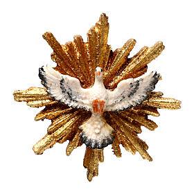Spirito Santo con raggiera 5,5 cm diametro legno Valgardena s1