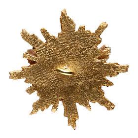 Spirito Santo con raggiera 5,5 cm diametro legno Valgardena s3