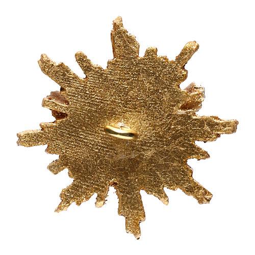 Holy Spirit with halo 5,5 cm in wood Valgardena 3