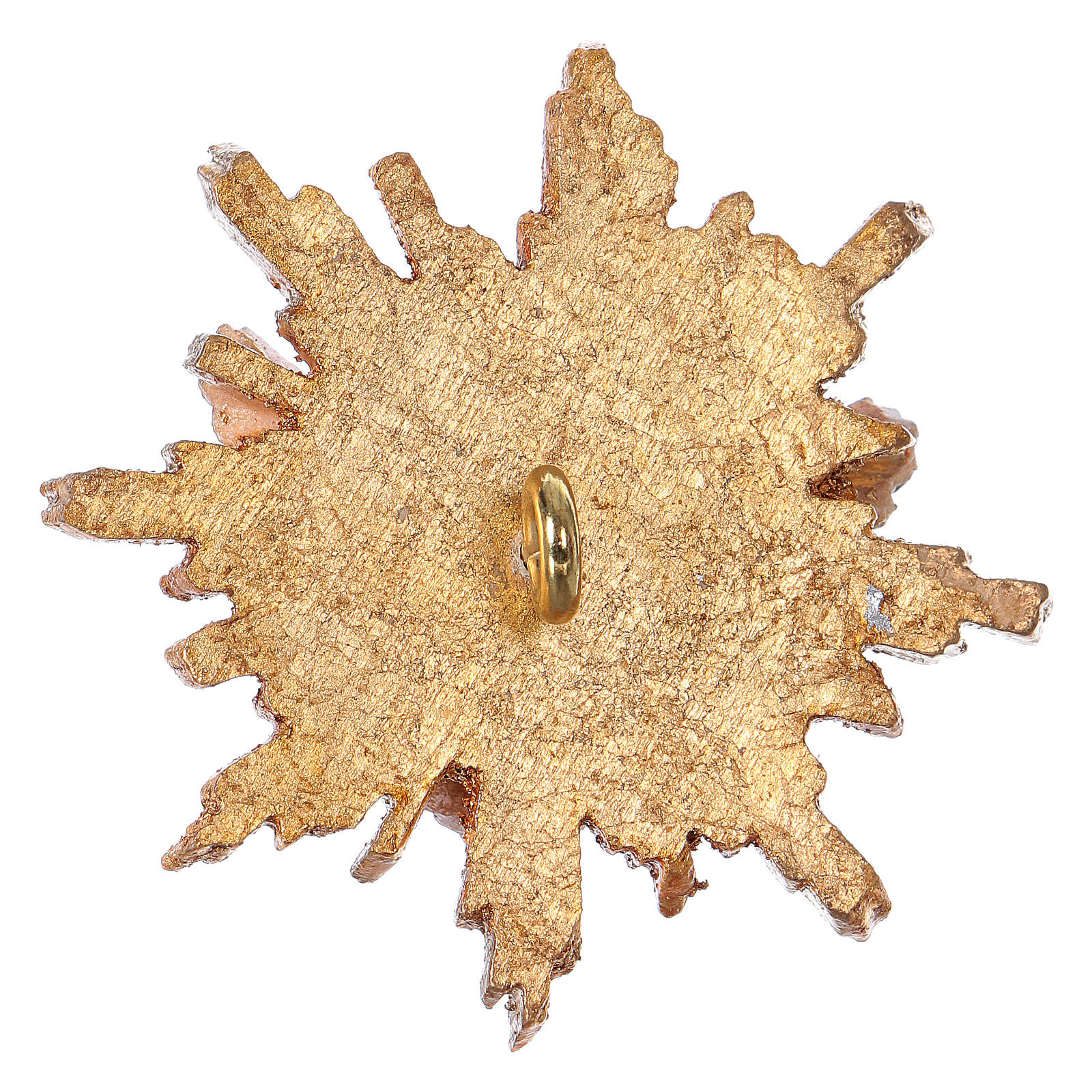 Spirito Santo con raggiera 5,5 cm legno Valgardena con astuccio 3