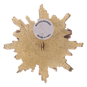 Spirito Santo con raggiera 5,5 cm legno Valgardena con astuccio s2