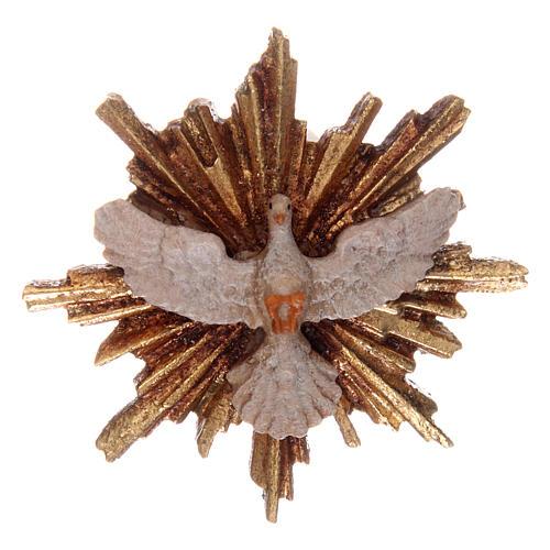 Spirito Santo con raggiera 5,5 cm legno Valgardena con astuccio 1