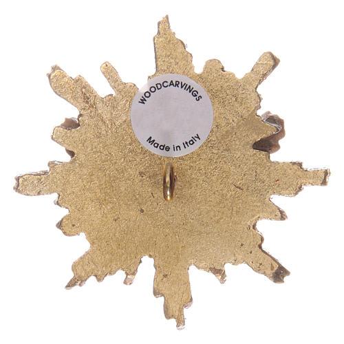 Spirito Santo con raggiera 5,5 cm legno Valgardena con astuccio 2