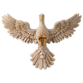Dove in painted wood Valgardena 12 cm s1