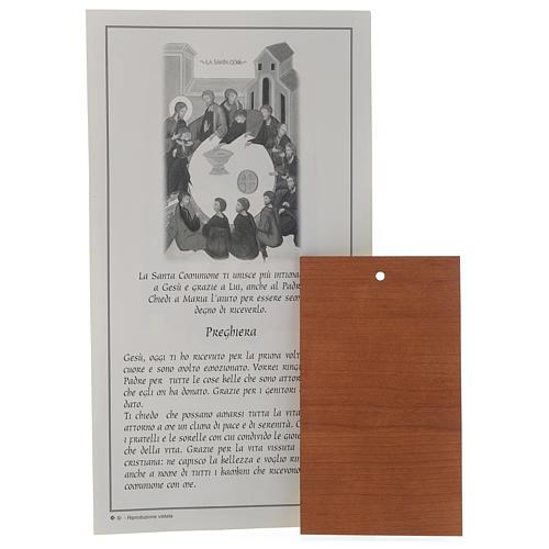 Certificat Première Communion ITA avec icône bois 2