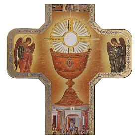 Cruz ícone Primeira Comunhão 10x15 cm s2