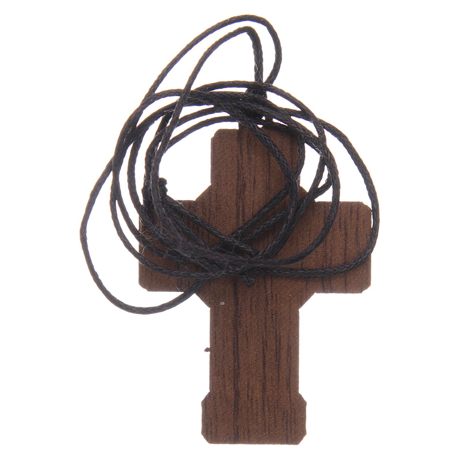 Croix en bois Première Communion cordon et boîte 3