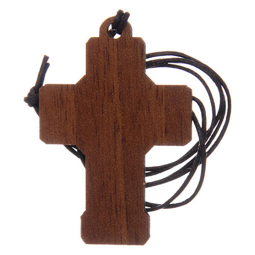 Wooden cross for the first communion with cord and card 4