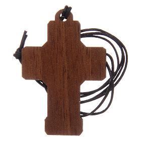Croix en bois Communion cordon et carton s4