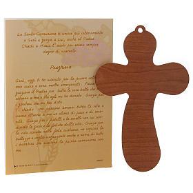 Certificat Communion avec croix bois s3