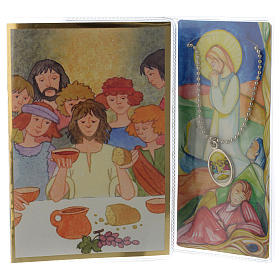 First communion booklet with pendant s1