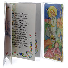 First communion booklet with pendant s2